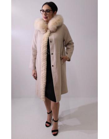 Swetrowy płaszcz z...