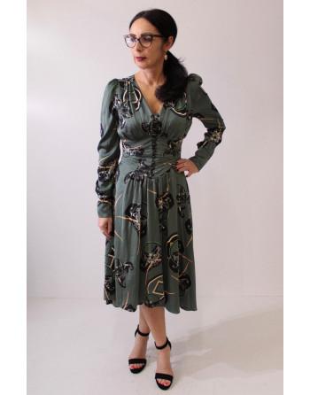 Sukienka midi na wzór...