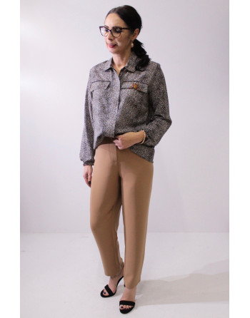 EXXPOSE LINE - spodnie camel