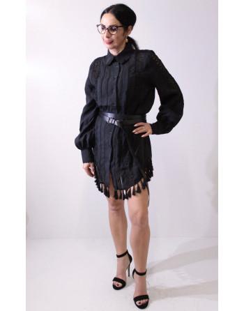 Czarna ażurowa sukienka...