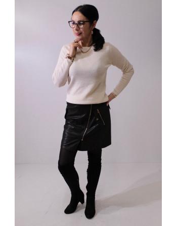 Trapezowa spódnica mini z...